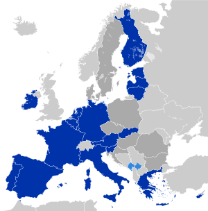 Countries using the Euro de jure Countries and...