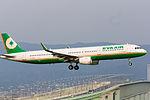 Eva Airways, BR130, Airbus A321-211, B-16209, Arrived from Taipei, Kansai Airport (17009865230).jpg