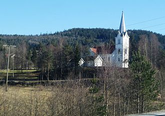 Evje - View of the local church