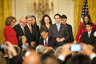 White House Initiative on Educational Excellence for Hispanics - President Obama signs Executive Order 13555, October 19, 2010