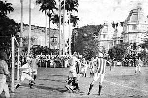 Exeter City F.C. - A match played by Exeter City in Rio de Janeiro during its South American tour of 1914.
