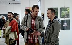 Exhibition UNDER 35 in Palace of Art Minsk 13.05.2014 Logvin Semiletov Sustov.JPG