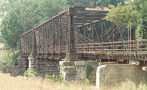Bollman Truss Railroad Bridge - Image: Existing Bridge Elevation