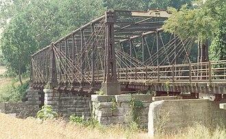 Bollman Truss Railroad Bridge - Image: Existing Bridge Elevation
