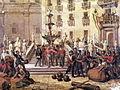 Expedition of the Thousand, Giuseppe Garibaldi in Pretoria Square in Palermo, 1860.jpg