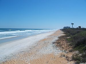 Gamble Rogers Memorial State Recreation Area at Flagler Beach - Image: FL Gamble Rogers SRA east side beach 01
