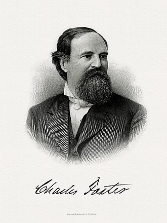 Charles Foster (Ohio politician) - Bureau of Engraving and Printing portrait of Foster as Secretary of the Treasury.
