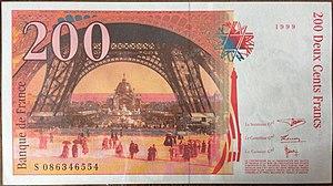 200 Franc Rückseite