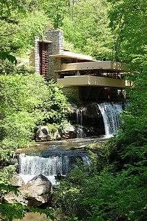 Fallingwater building by Frank Lloyd Wright
