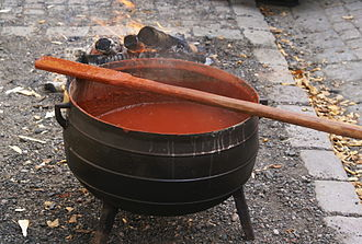 Falu red - Falu red after being mixed and cooked to a paint