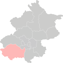 Location of Fangshan District in Beijing