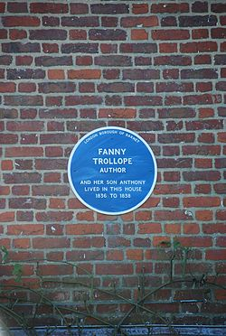 Photo of Anthony Trollope and Frances Trollope blue plaque