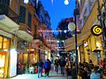 Fascinating Ledra Street with Cypriot French and Greek cafes by night Republic of Cyprus.jpg