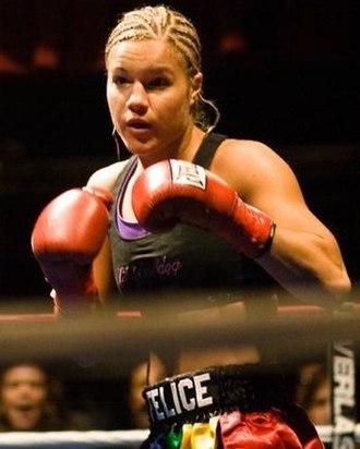 Felice Herrig - Herrig at Muay Thai Mayhem XIV in New York.