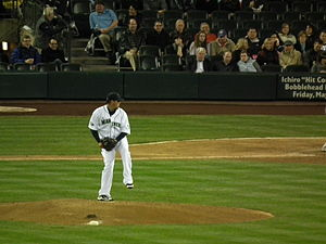 Félix Hernández - Hernández pitching at Safeco Field, April 2011
