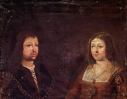 The wedding portrait of Ferdinand and Isabella, c. 1469. Fernando e Isabel.jpg