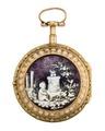 Fickur med boett i guld samt måleri i emalj, 1700-tal - Hallwylska museet - 110412.tif