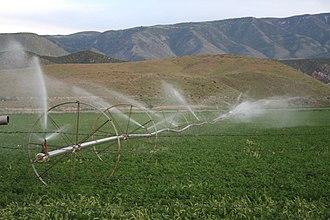 Glenwood, Utah - Image: Field west of Glenwood, Sevier County, UT, showing irrigation