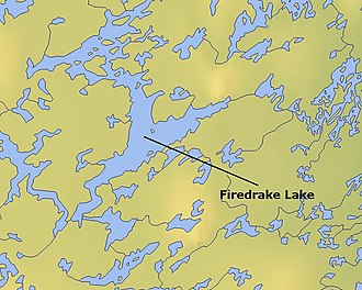 Firedrake Lake - Map