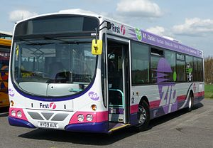 Single-deck bus - A single deck First Hampshire & Dorset Wright Eclipse Urban bodied Volvo B7RLE.