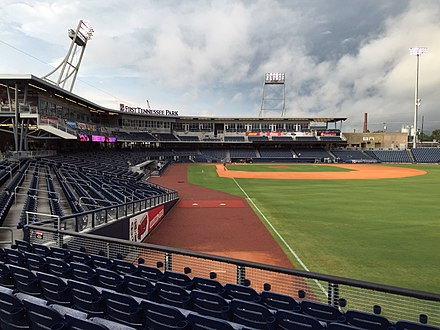 First Tennessee Park, home of the Nashville Sounds and Nashville SC First Tennessee Park, September 10, 2016 - 1.jpg