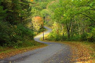 Main Township, Columbia County, Pennsylvania - Fisher Run Road looking north in Main Township