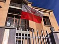 Flag of Poland in Polish embassy, Yerevan.jpg