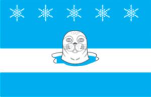 Snezhnogorsk, Murmansk Oblast - Image: Flag of Snezhnogorsk (Murmansk oblast)