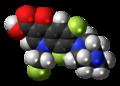 Fleroxacin molecule spacefill.png