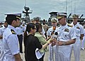 Flickr - Official U.S. Navy Imagery - The commander of the U.S. 7th Fleet, is interviewed by Thai media during the closing ceremony for Cooperation Afloat Readiness and Training Thailand 2012..jpg
