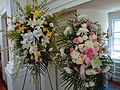 Floral bouquets at the Unitarian church in Summit NJ.JPG