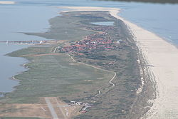 Aerial view o Juist frae the east