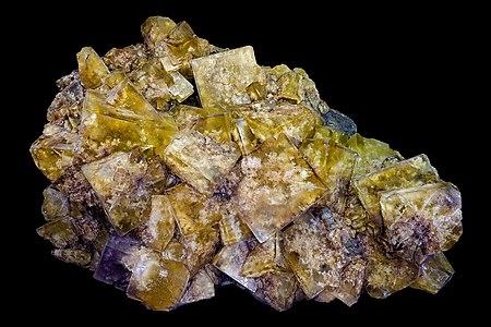 Polychrom fluorite