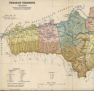 Fogaras County - Image: Fogaras county administrative map