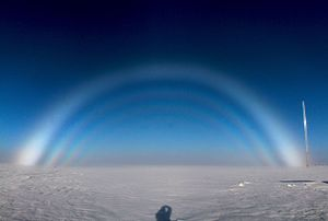 Fog bow - Fogbow at the Summit Research Station, Greenland.