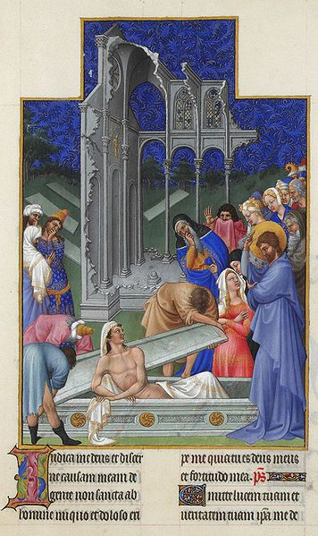 File:Folio 171r - The Raising of Lazarus.jpg