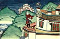 Folk Tales from Tibet - The wicked neighbour removing young sparrow from nest.jpg