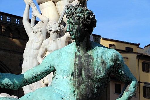 Giambologna e Bartolomeo Ammannati, Fontana del Nettuno (dettaglio, maschile del Giambologna), Piazza della Signoria, Firenze