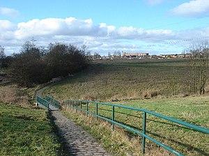 Shakerley - Footbridge on path between Shakerley and Atherton