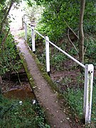 Footbridge over the Cadnam River, Newbridge - geograph.org.uk - 207605.jpg