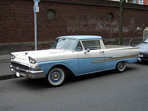 Paris, Texas (film) - The 1958 Ford Ranchero is Travis' chosen vehicle.