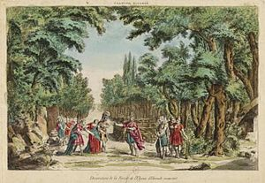 Hercule mourant - The forest of Mount Oeta, scene from Act 5 in the original production