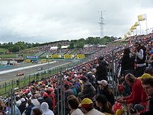 Photo des tribunes du circuit de Budapest.