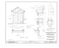 Fort Gibson, Commissary Building, Garrison Avenue, Fort Gibson, Muskogee County, OK HABS OKLA,51-FOGIB,1D- (sheet 6 of 10).png