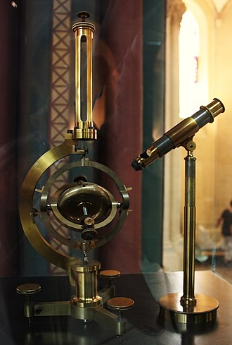 Gyroscope - Gyroscope invented by Léon Foucault in 1852. Replica built by Dumoulin-Froment for the Exposition universelle in 1867. National Conservatory of Arts and Crafts museum, Paris.