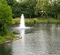 Fountain in man made lake at the rear of the Aztec Hotel. - geograph.org.uk - 486215.jpg
