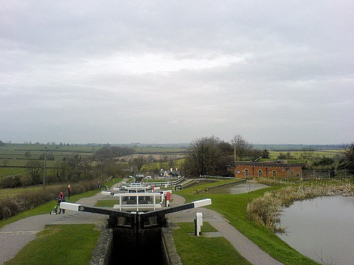 Foxton Locks from top