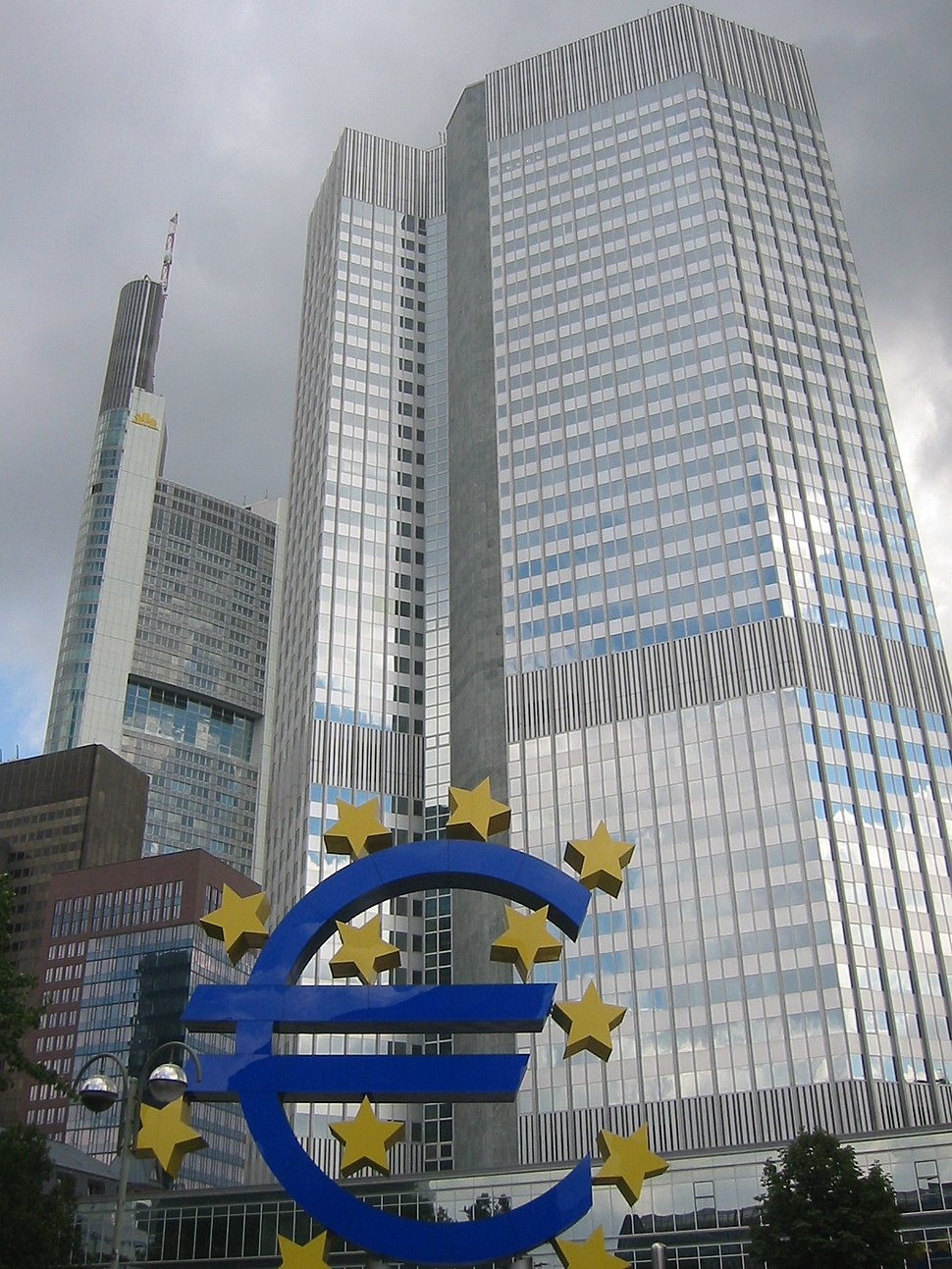 Frankfurt, European Central Bank with Euro-2