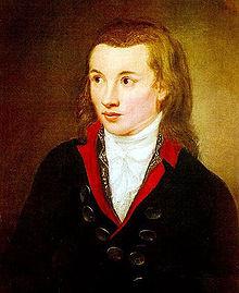 Novalis um 1799, Porträt von Franz Gareis (Quelle: Wikimedia)