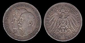 Friedrich II, Duke of Anhalt - Image: Frederick II of Anhalt Coin